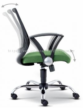 INSIST SPECIFICATION - EXTRA MOTION OF THE BACKREST DURING RECLINE AUTOMATICALLY ADJUST TO ENSURE CORRECT POSITION