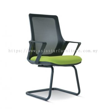 REAL MESH VISITOR CHAIR WITH EPOXY BASE ASE2696