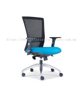 TALENT MESH LOW BACK CHAIR WITH ROCKET ALUMINIUM DIE CAST BASE ASE2652