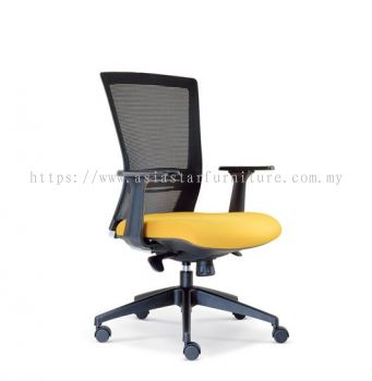 TALENT MESH LOW BACK CHAIR WITH ROCKET NYLON BASE ASE2656