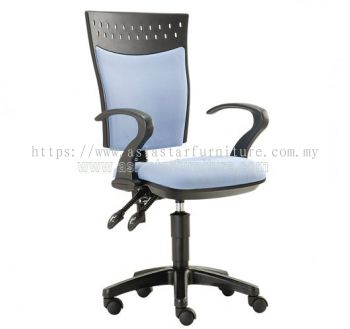 SOLAR SECRETARIAL HIGH BACK CHAIR WITH BACK REST ADJUSTABLE ASE 923