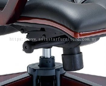 DUTY SPECIFICATION - THE UNIQUE IMPORTED KNEE-TILT SYNCHRONIZED ADJUSTABLE MECHANISM WITH LOCKING SYSTEM ASSURES MAXIMUM LUMBER SUPPORT SPINE