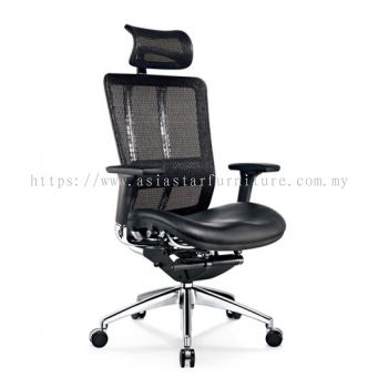 FUTURE HIGH BACK MESH CHAIR WITH ALUMINIUM BASE BACK SUPPPORT & ADJUSTABLE HANDLE AFT-1L