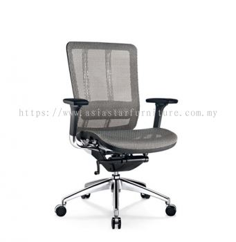 FUTURE LOW BACK FULLY MESH CHAIR WITH ALUMINIUM BASE BACK SUPPPORT & ADJUSTABLE HANDLE AFT-M2