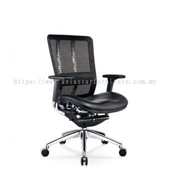 FUTURE LOW BACK MESH CHAIR WITH ALUMINIUM BASE BACK SUPPPORT & ADJUSTABLE HANDLE AFT-2L