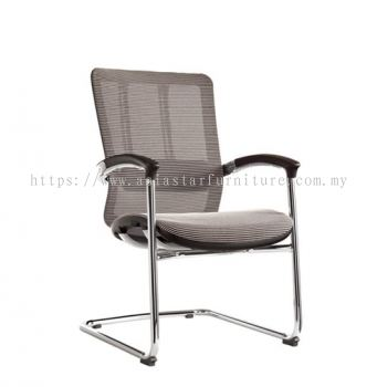 FUTURE VISITOR FULLY MESH CHAIR WITH CHROME BASE & BACK SUPPPORT AFT-M3