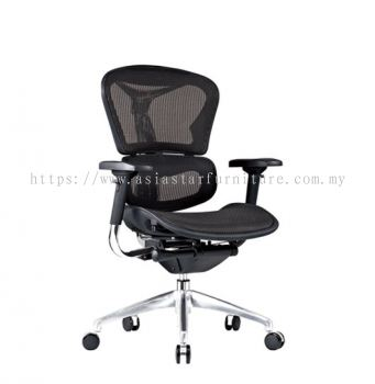 ARVIKA LOW BACK FULLY MESH CHAIR WITH ALUMINIUM BASE & ADJUSTABLE HANDLE ARK- 2