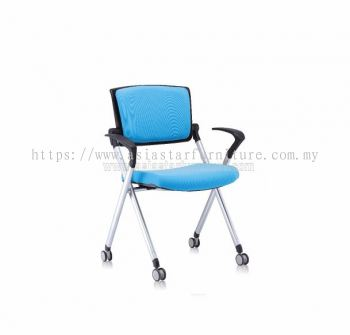 AEXIS FOLDING PADDING CHAIR C/W CASTOR & ARMREST ACL 448