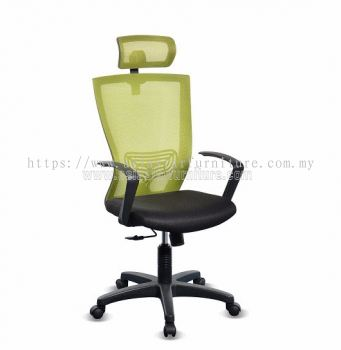 BEVERLY HIGH BACK MESH CHAIR WITH NYLON BASE ABV-A1