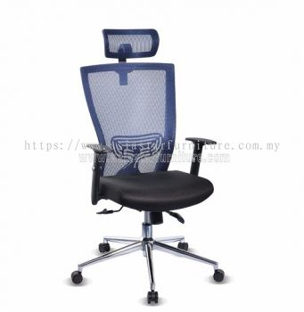 BEVERLY HIGH BACK MESH CHAIR WITH CHROME BASE ABV-B1