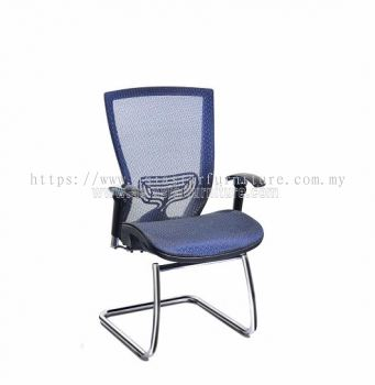 BEVERLY FULL MESH VISITOR CHAIR WITH CHROME CANTILEVER BASE ABV-D3