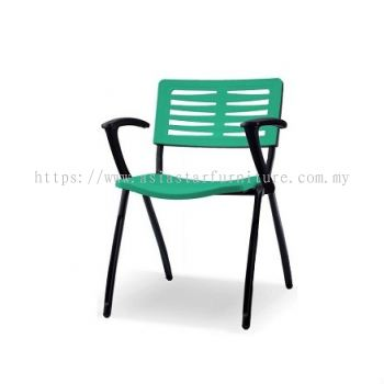 AEXIS-3 POLYPROPYLENE CHAIR C/W ARMREST & 4 LEGGED METAL BASE ACL 68 A01