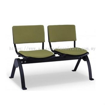 AEXIS-3 FOAM 2 SEATER LINK CHAIR W/O ARMREST & N-SHAPE METAL BASE ACL 68-2N UF-SB