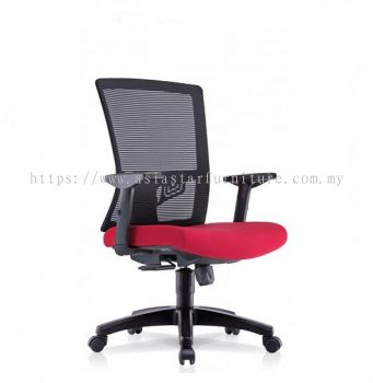 NIMO MESH MEDIUM BACK CHAIR WITH ADJUSTABLE HANDLE 2 HB