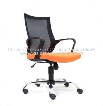 OWER LOW BACK MESH CHAIR WITH CHROME BASE ASE 2822