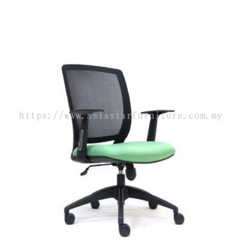 UMAX LOW BACK MESH CHAIR WITH NYLON BASE ASE 2773