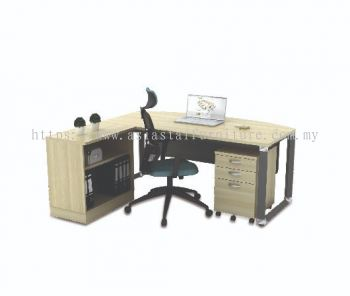 OMB 180A-SET EXECUTIVE TABLE (WITH METAL FRONT PANEL)