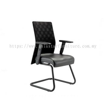 WEAVY VISITOR CHAIR WITH NYLON ROCKET BASE ACL 2266