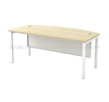 EXECUTIVE TABLE METAL OCTAGON LEG C/W METAL MODESTY PANEL SMB 180A