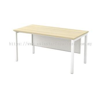 RECTANGULAR WRITING TABLE METAL OCTAGON LEG C/W METAL MODESTY PANEL (W/O TEL CAP) SMT 126