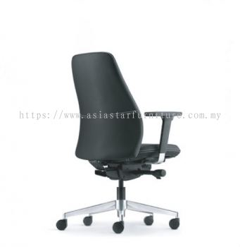EVE EXECUTIVE LOW BACK WITH ALUMINIUM BASE AND ALUMINIUM ADJUSTABLE ARMREST ASEV 6412L-16D
