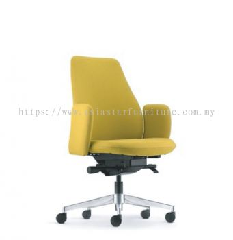EVE EXECUTIVE LOW BACK WITH ALUMINIUM BASE AND FIXED ARMREST ASEV 6412F-16A