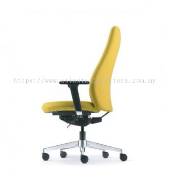 EVE PRESIDENTIAL MEDIUM BACK WITH ALUMINIUM BASE AND ALUMINIUM ADJUSTABLE ARMREST ASEV 6411F-16D