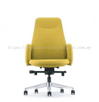 EVE PRESIDENTIAL MEDIUM BACK WITH ALUMINIUM BASE AND FIXED ARMREST ASEV 6411F