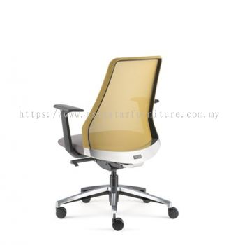 PICO PRESIDENTIAL MEDIUM BACK WITH ALUMINIUM BASE AND FIXED NYLON ARMREST ASPC 8611N-18A