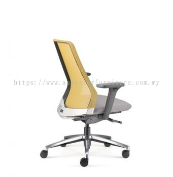 PICO PRESIDENTIAL MEDIUM BACK WITH ALUMINIUM BASE AND NYLON ADJUSTABLE ARMREST ASPC 8611N-18D