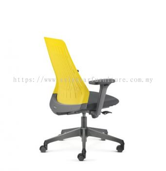 PICO PRESIDENTIAL MEDIUM BACK WITH NYLON BASE AND NYLON ADJUSTABLE ARMREST ASPC 8612A-24D