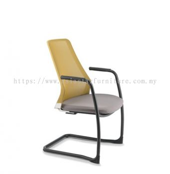 PICO VISITOR CHAIR WITH ARM AND EPOXY CANTILEVER BASE ASPC 8613N-89E
