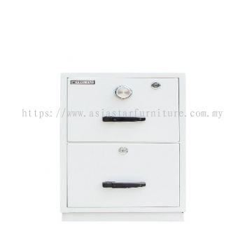 FIRE RESISTANT CABINET 2 DRAWER WHITE COLOUR