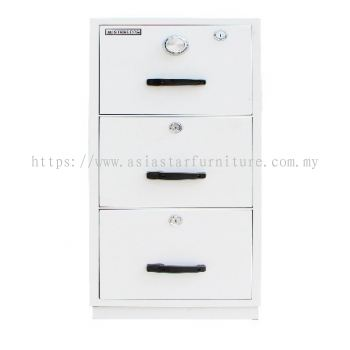 FIRE RESISTANT CABINET 3 DRAWER WHITE COLOUR