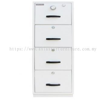 FIRE RESISTANT CABINET 4 DRAWER WHITE COLOUR