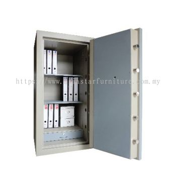 BANKER SAFE SS-AS65 SIZE FOUR (4) BLUE GREY COLOUR INTERNAL VIEW