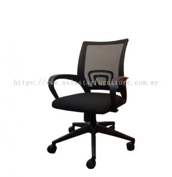 UNI MESH LOW BACK CHAIR WITH POLYPROPYLENE BASE (FRONT)