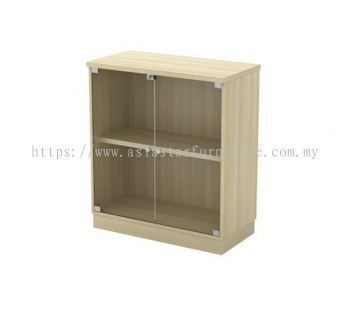 Q-YG 9 SWINGING GLASS DOOR LOW CABINET
