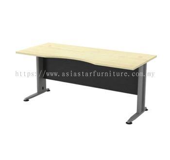RECTANGULAR WRITING TABLE CURVE METAL J-LEG TMB 11