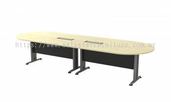TIB 36 OVAL MEETING TABLE WITH METAL MODESTY PANEL