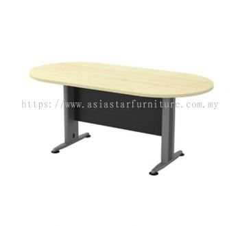 TOE 18 OVAL MEETING TABLE WITH METAL MODESTY PANEL