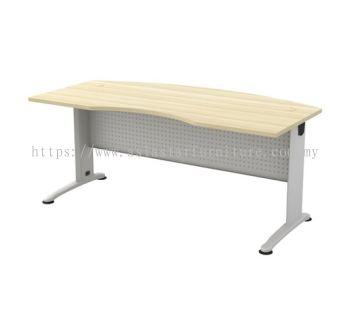 EXECUTIVE TABLE D-SHAPE CURVE METAL J-LEG C/W METAL MODESTY PANEL BMB 55
