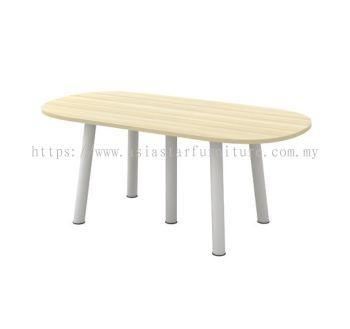 OVAL SHAPE MEETING TABLE METAL POLE LEG BOE 18