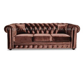 ELEGANT FABRIC THREE SEATER SOFA