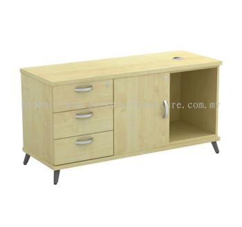 SIDE CABINET C/W OPEN SHELF + SWINGING DOOR (L) + FIXED PEDESTAL 3D Q-YLP 1236