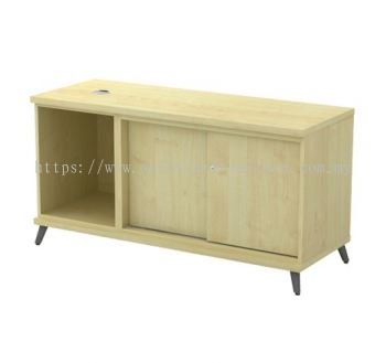 SIDE CABINET C/W OPEN SHELF + SLIDING DOOR Q-YOS 1206