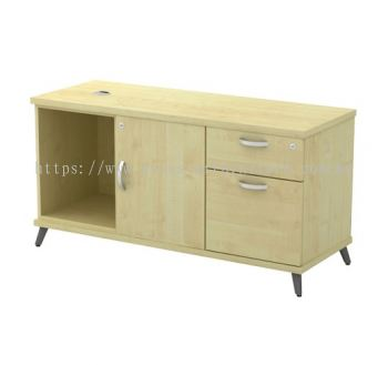 SIDE CABINET C/W OPEN SHELF + SWINGING DOOR (R) + FIXED PEDESTAL 1D1F Q-YRP 1226