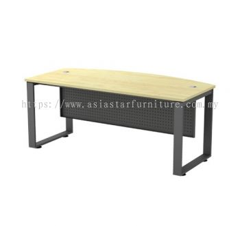 EXECUTIVE TABLE METAL O-LEG C/W METAL MODESTY PANEL SQMB 180A