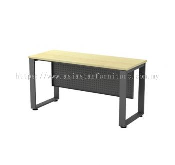 RECTANGULAR WRITING TABLE METAL O-LEG C/W STEEL MODESTY PANEL SQMT 126 (W/O TEL CAP)