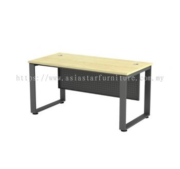 RECTANGULAR WRITING TABLE METAL O-LEG C/W STEEL MODESTY PANEL SQMT 127